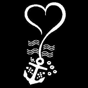 Anker-Herz-Shirt für Boots- und Seeliebhaber-Geschenk