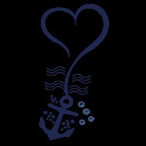 Anker-Herz-Shirt für Boots- und Seeliebhabert-shirt