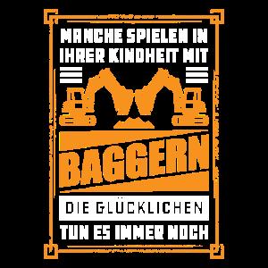 Bagger fahren Baggerführer Baggerfahrer Geschenk