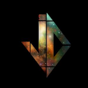 Abstrakt Sterne Weltall Logo Design Shirt