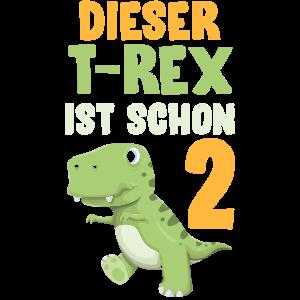 Dinosaurier Zweiter Geburtstag 2 T-rex