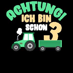 Zweiter Geburtstag Traktor Bauer 2