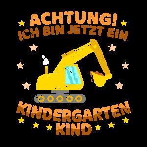 Kindergartenkind Bagger Jungen
