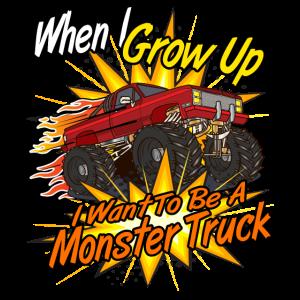 Monster Truck Kinder Wenn ich groß bin