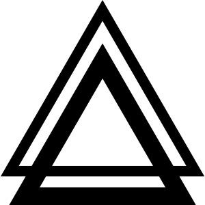 Dreieck doppel Triangle Symbol