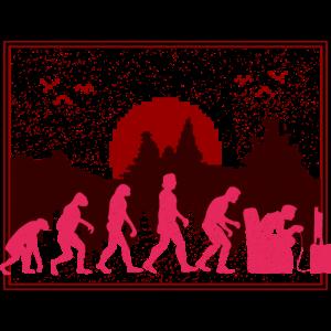 Gamer Zocker Evolution Lustig Pixelart Pixelig