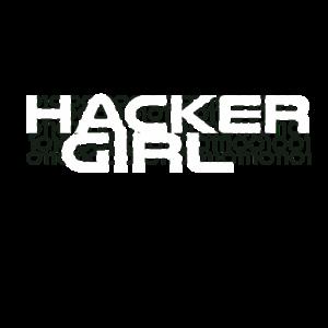 Hacker Girl Mädchen Frau Informatik Geschenkidee