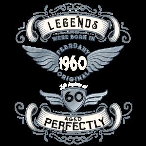 Geschenk zum 60 Geburtstag - Vintage 1960 Februar
