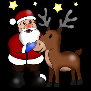 Santa Rentier Geschenk für Damen Herren Kinder
