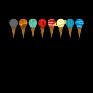 Das Sonnensystem Planeten Eiswaffeln