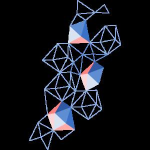 abstrakte, geometrische Körper in einem Netz