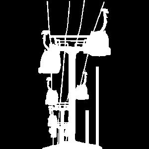 Skilift Grafit - Skifahren Shirt