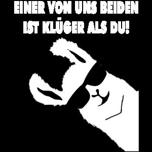 EINER VON UNS BEIDEN IST KLUeGER ALS DU LAMA