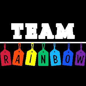 Team Rainbow Regenbogen LGBT Pride Fahne Flagge