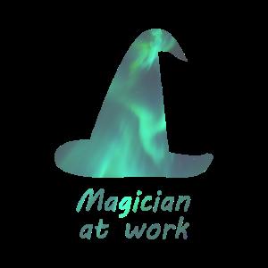 Magier Hut Zauberer An der Arbeit Magie