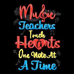 Geschenk für Musiklehrer berühren Herzen Note