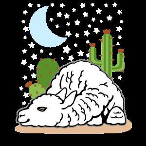 Lama Alpaka Schlaf Geschenk Damen Herren Kinder