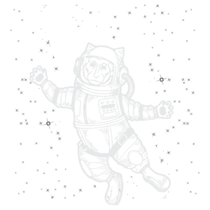 Astronaut in Space. Affe im Weltall