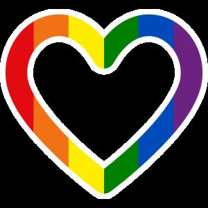 Herz Pride Regenbogenfahne Regenbogenflagge LGBTQ