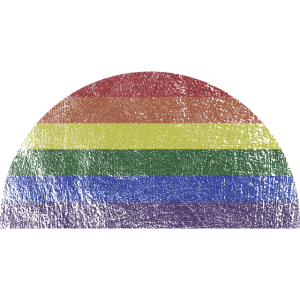 Retro Regenbogen Halbkreis LGBT LGBTQ Pride Sonne