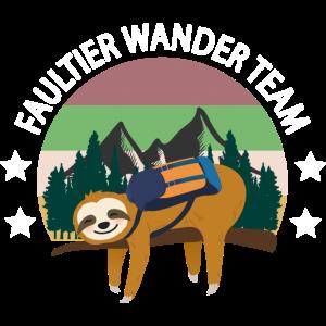 Faultier Wander Team wandern Wanderung