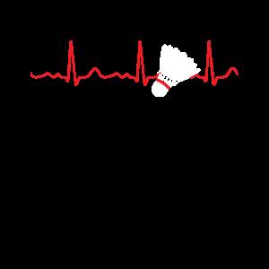 Badminton - Herzschlag / Herzlinie / Puls