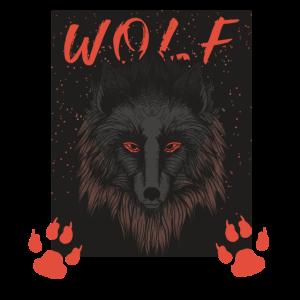 Wolf Kopf,Pfote Outdoor Camping Geschenk Shirt