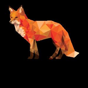 Geometrisches Fox-T-Stück grafisches Fox-Geschenk