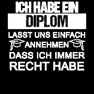 Diplom Ingenieur Abschluss Geschenk stolzer Diplom
