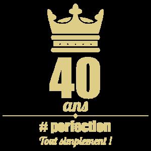 40 Jahre - #perfection - Einfach - T-Shirt