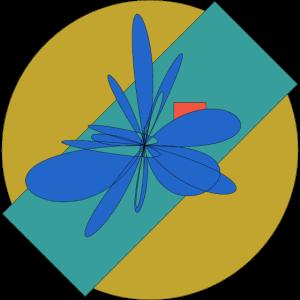 Geometrische Illustration Gelb