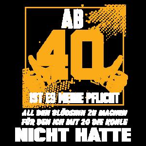 Vierzigster Geburtstag 40 Geburtstagsfeier
