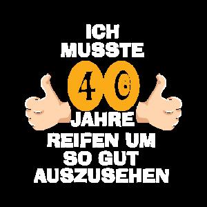 Vierzig 40 Vierzigster Geburtstag
