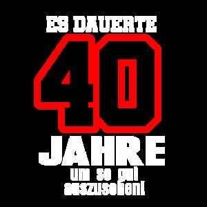 Vierzigster 40 Geburtstag