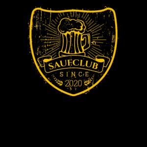 Saufclub since 2020 Kneipentour Weizenbier Shirt