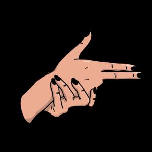 Hand Pistole Handzeichen Geste