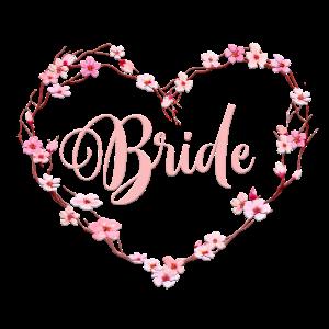Kirschblüten Herz Team Bride 1
