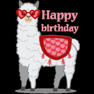 Lama Alpaka Birthday Geschenk Damen Herren Kinder