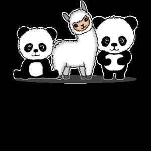 Lama Alpaka Panda Geschenk Damen Herren Kinder