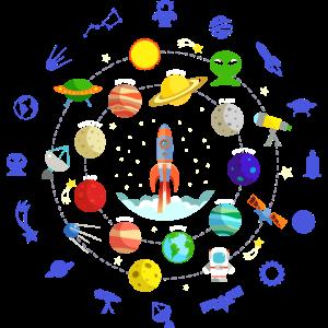 Planeten-Solar-Grafik