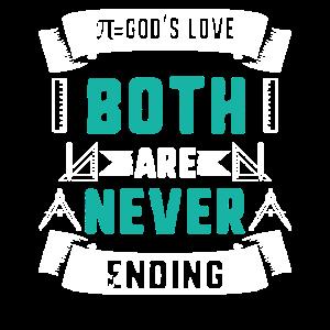 Pi Day Gottes Liebe Beide enden nie Retro