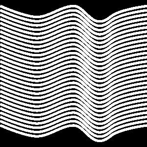 Optische Täuschung mit gewellten Linien