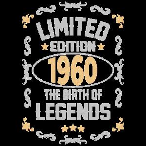 1960 Geboren Legende 60 Geburtstag Geschenk Idee