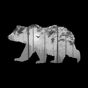 Wald Bär Symbiose