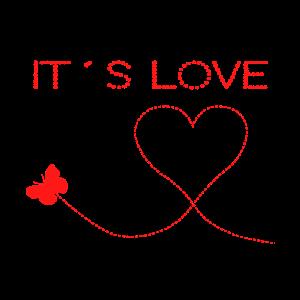 It s Love Es ist Liebe Herz Schmetterling