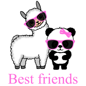 Panda Lama Lustig Geschenk Damen Herren Kinder