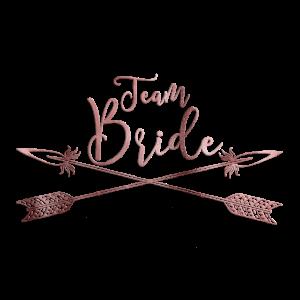 team bride boho arrow rosegold 2