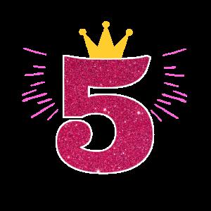 5. Geburtstag mädchen Birthday Geschenk 5 Jahre