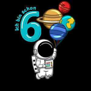 6 Jahre Astronaut Geburtstag