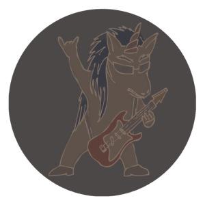Licorne guitare metal fond gris